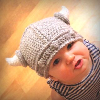 Vicking crocheted hat
