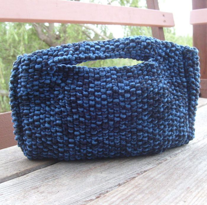 Free Knitting Pattern For Moss Stitch Clutch This Hornbags Corn