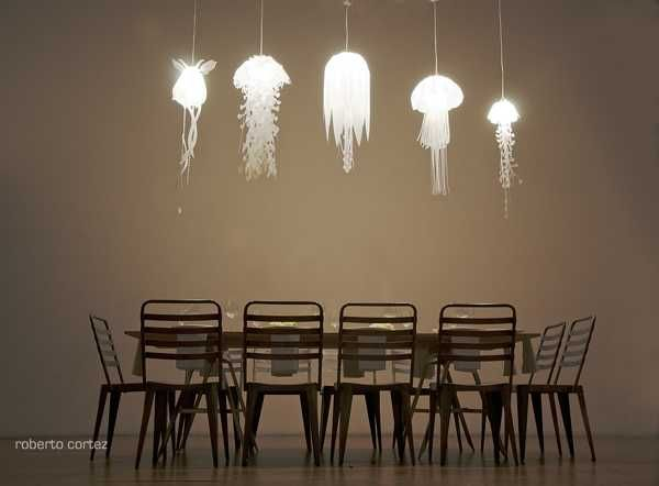 Unique Lighting Fixtures Inspired By JellyFish From Roxy Russell Design