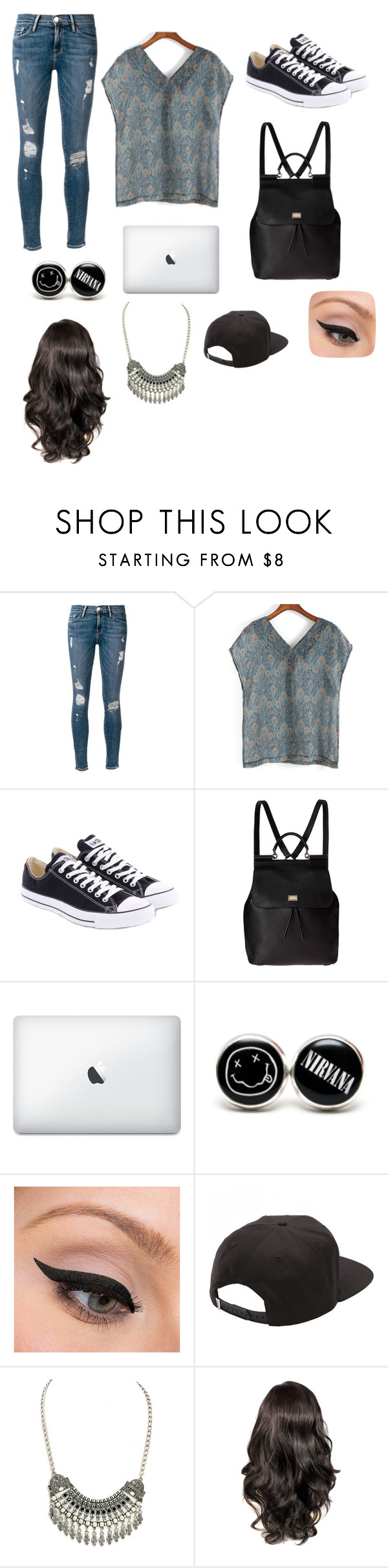 """Untitled #109"" by emmajean239 ❤ liked on Polyvore featuring Frame Denim, Converse, Dolce&Gabbana, LORAC, Vans and Gypsy Soul"