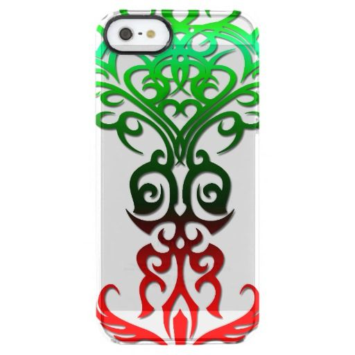 Tribal symbol 18 red,green uncommon clearly™ deflector iPhone 5 case