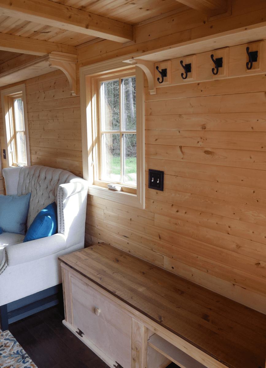 Charming Tumbleweed Tiny House On Wheels With 2 Sleeping