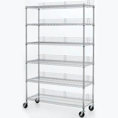 Wire Industrial Use Shelving Unit, Grey - 6-Tier 47.7 In. X 77 In. X 18 In. Wire Industrial Use Shelving