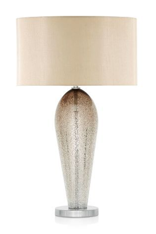 champagne ombre glass table lamp from next living room