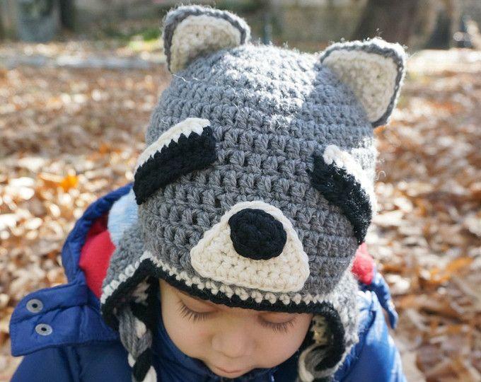 Crochet Raccoon Hat Pattern Animal Hat Pattern Crochet Hat Pattern