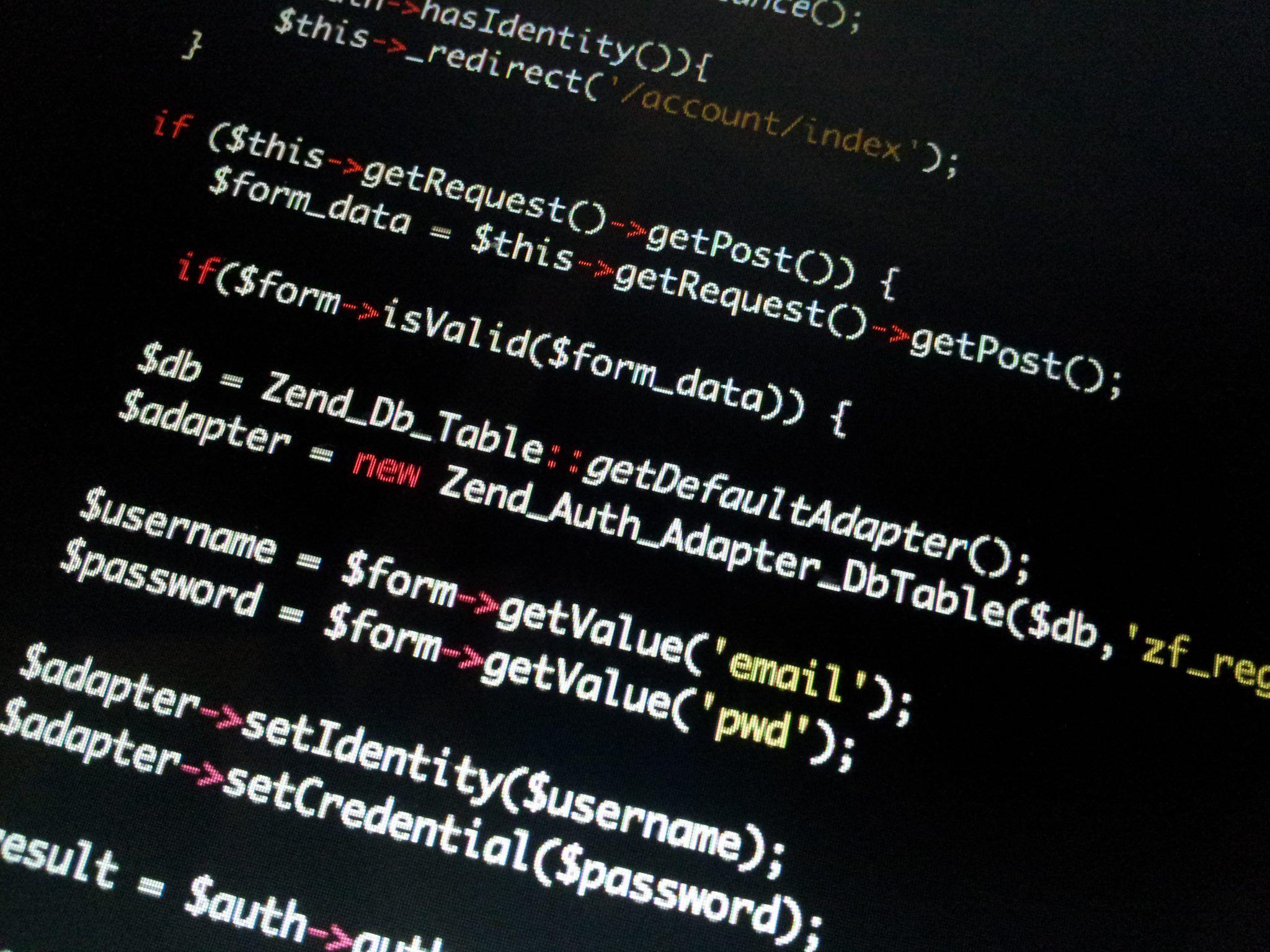 Code Zend Framework