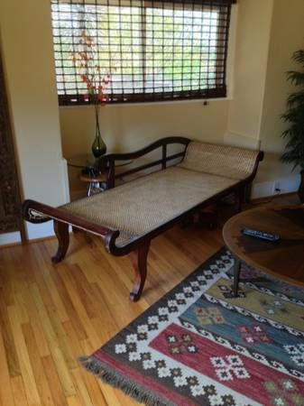 Cane antique settee chaise lounge Los Angeles $1050 : settee chaise lounge - Sectionals, Sofas & Couches