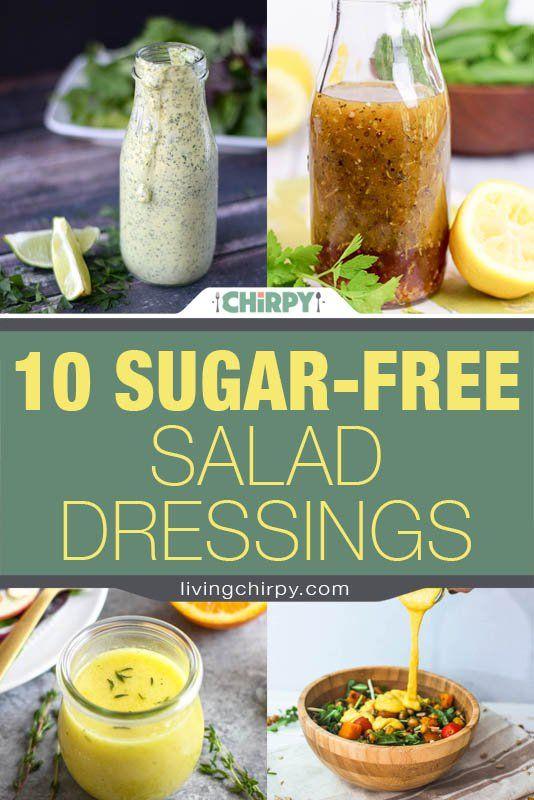 10 Sugar-Free Salad Dressings #sugarfreerecipes