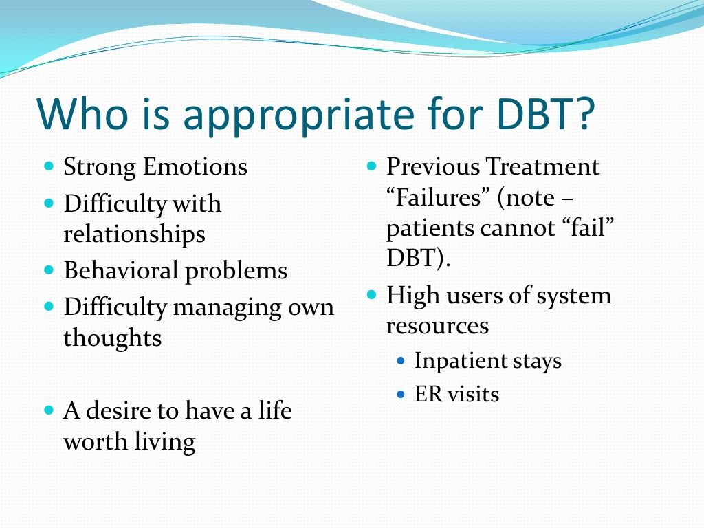 Who Is Appropriate For Dbt