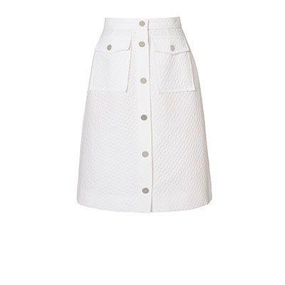 Flower Spot Jacquard Skirt