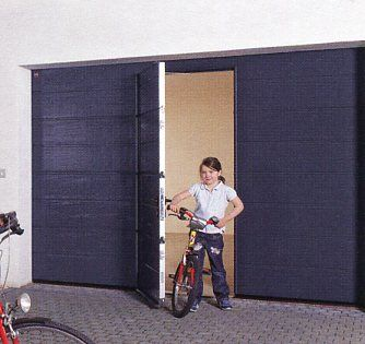 Picture of Hormann M-Rib sectional garage door with wicket door & Picture of Hormann M-Rib sectional garage door with wicket door ...
