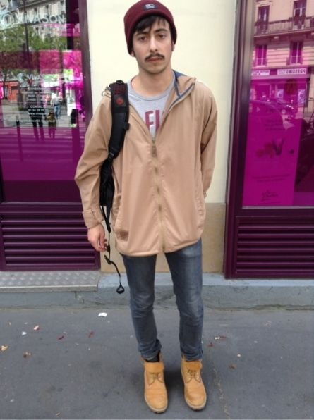 ASOS Veste -  UNIQLO Jean -  TIMBERLAND Boots, bottes, bottines #men #mode #look #streetstyle  http://moodlook.com/look/2014-05-14-france-paris-10
