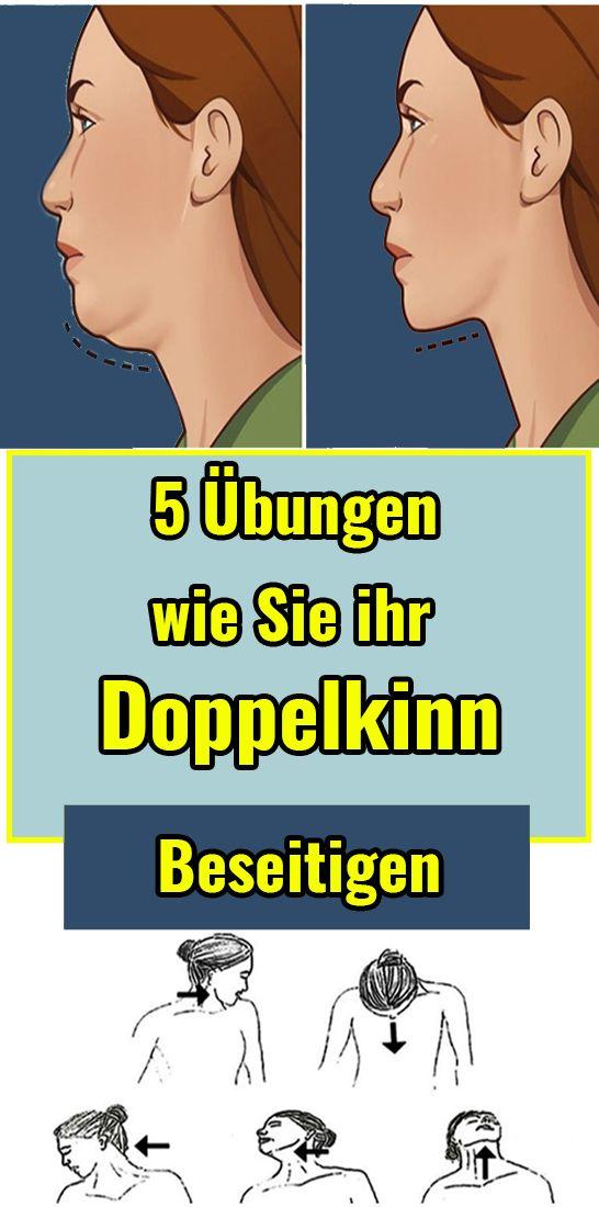 5 Übungen, wie Sie ihr Doppelkinn beseitigen #schlankaussehen