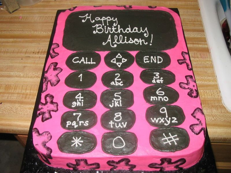 mobile phone cake on a plate cakes Pinterest Cake and Cooking