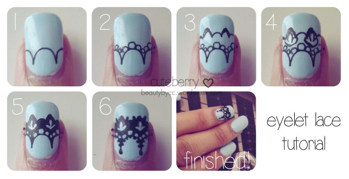 Nail Art Tutorial Lovely Lace Part I