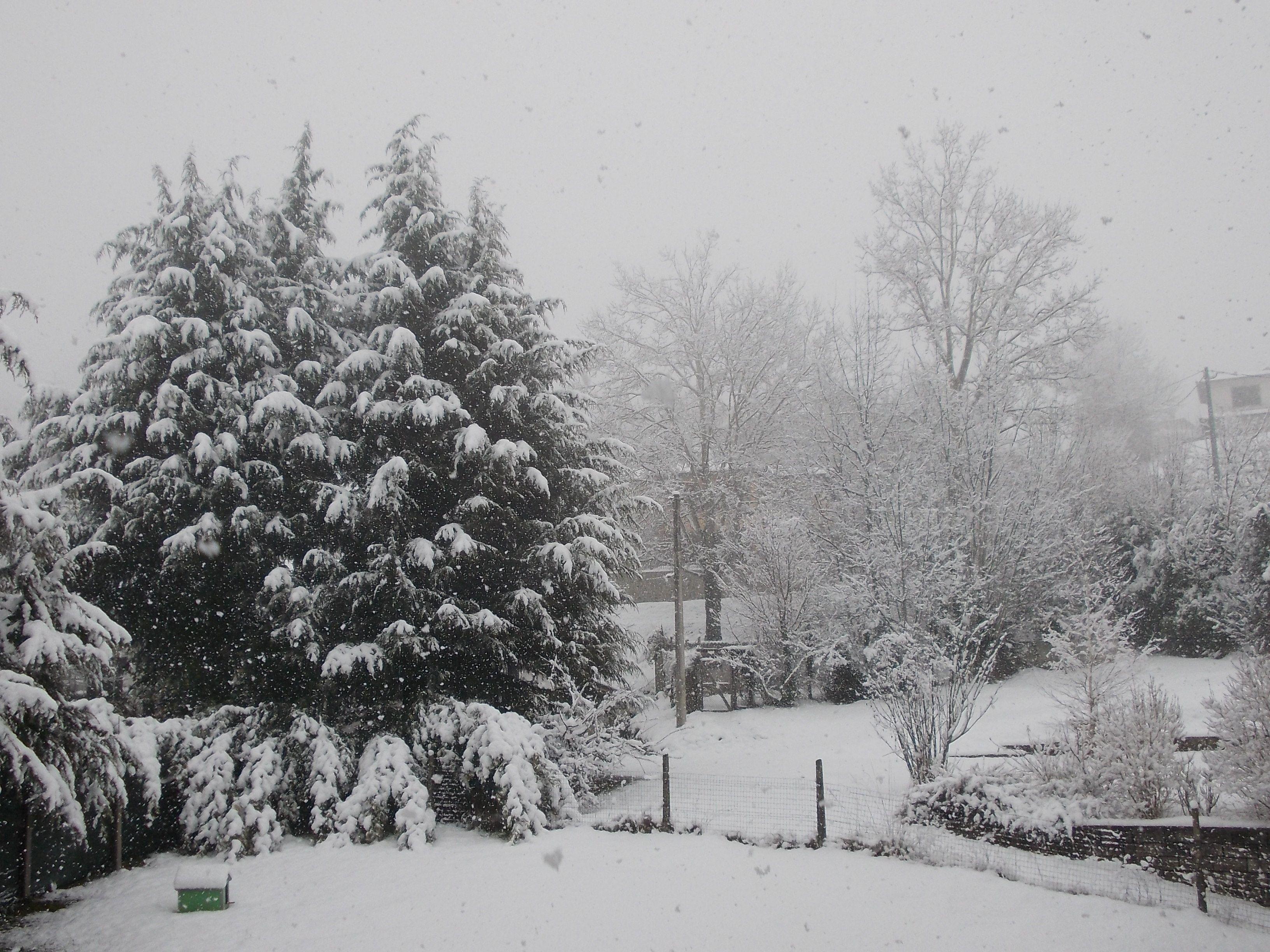 Al mio paese sta nevicando