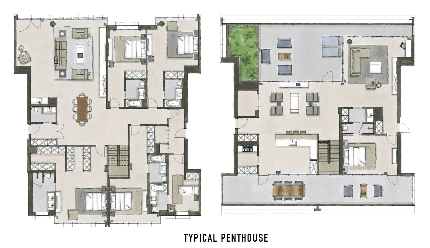 Oosten Williamsburg Penthouse Floor Plan Home