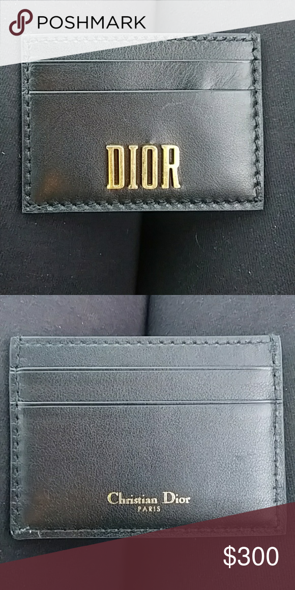 2f95b0b868e Christian Dior leather cardholder Black genuine leather Dior card holder.  Brand new! Has never been used! Christian Dior Bags Wallets