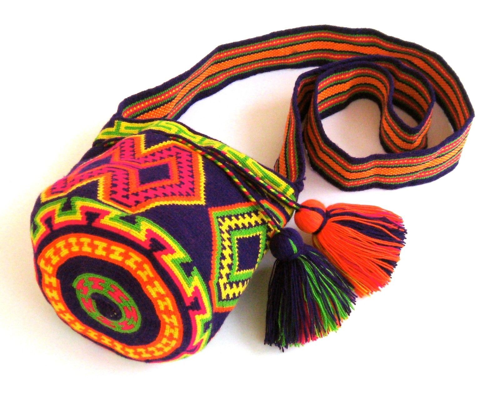 hight resolution of mochila wayuu small size bag tight 1 2 stitch crochet handmade ebay 64 00
