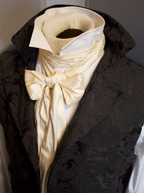 59f9a99cdcec For Anne - Cobalt Extra Long Slim REGENCY Tie Ascot Cravat Dupioni ...