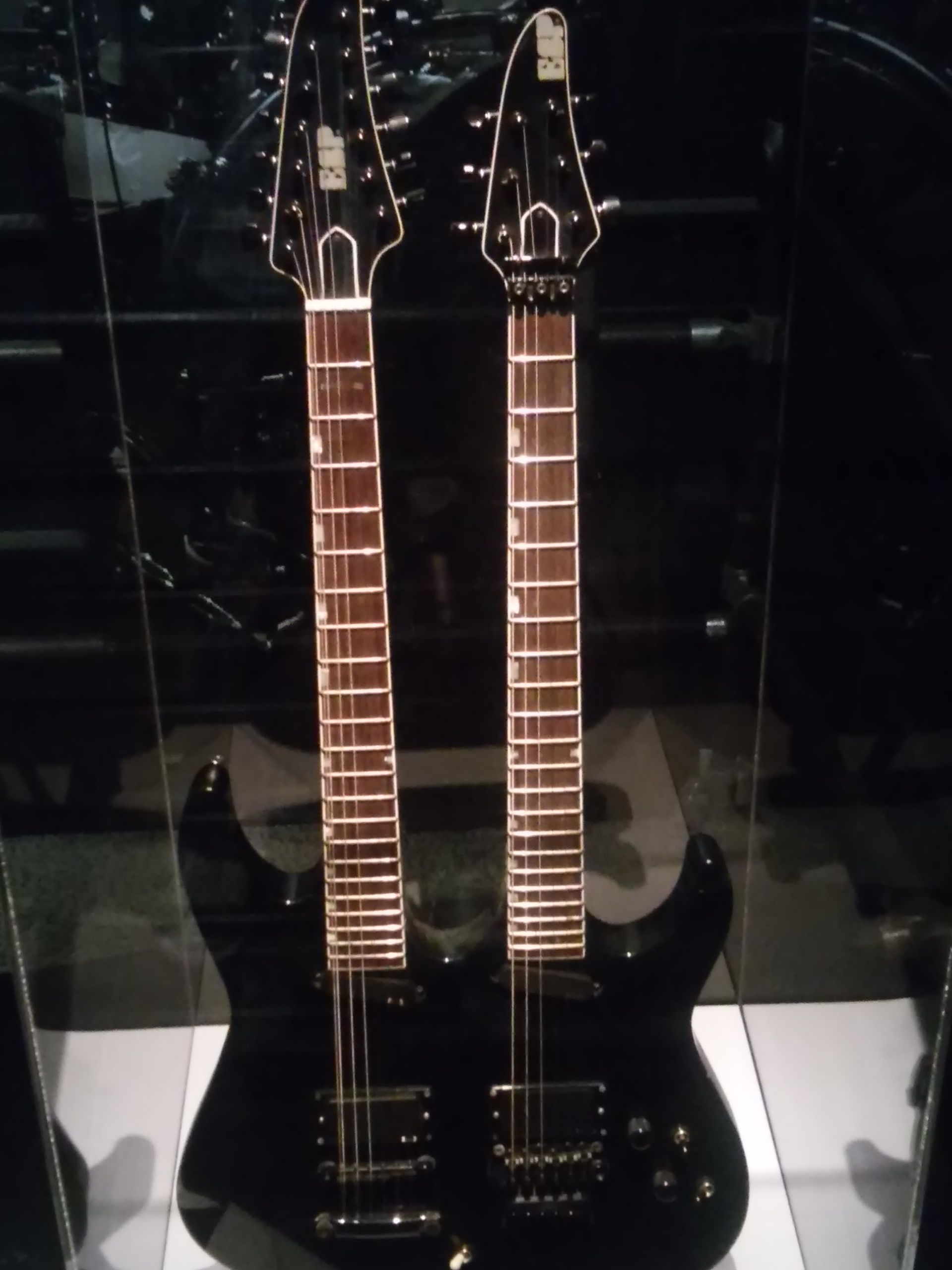 metallica 39 s james hetfield 39 s esp double neck standard 1991 guitar at the rock and roll hall of. Black Bedroom Furniture Sets. Home Design Ideas