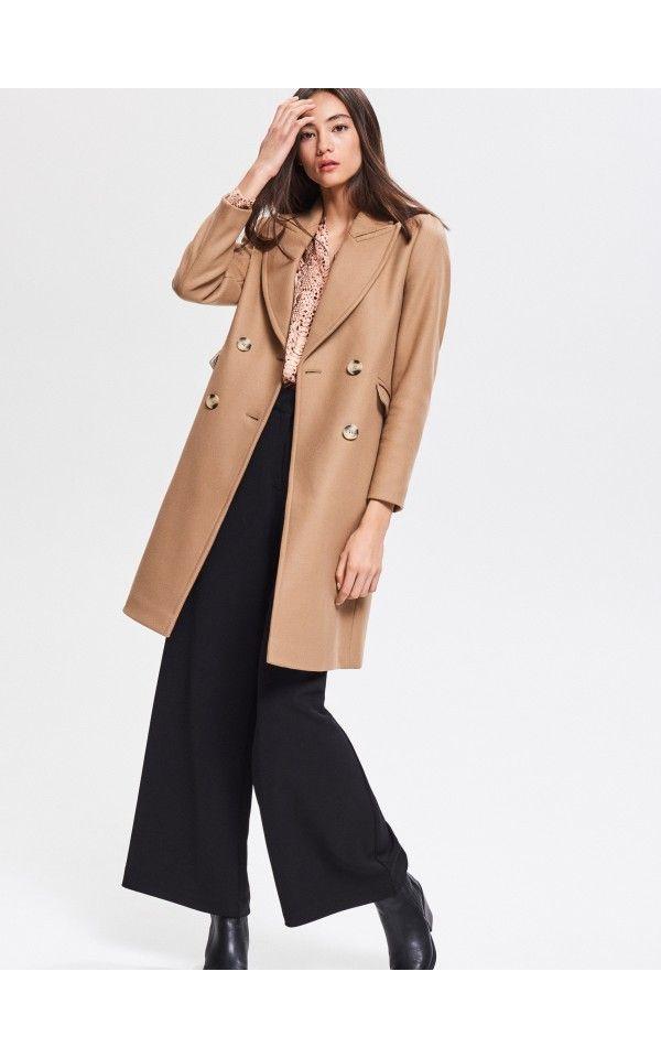 begehrteste Mode außergewöhnliche Farbpalette bestbewertet Buy online! Wool blend coat, RESERVED, VD996-80X | clothes ...
