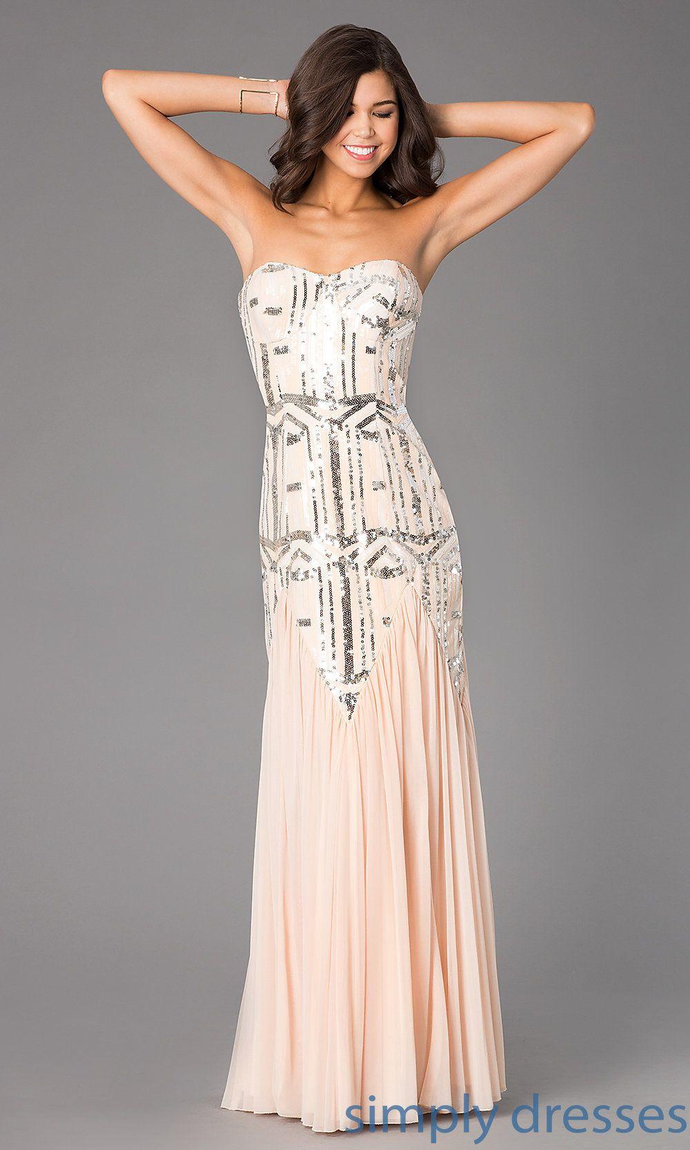 Dress, Strapless Sweetheart Floor Length Dress - Simply Dresses