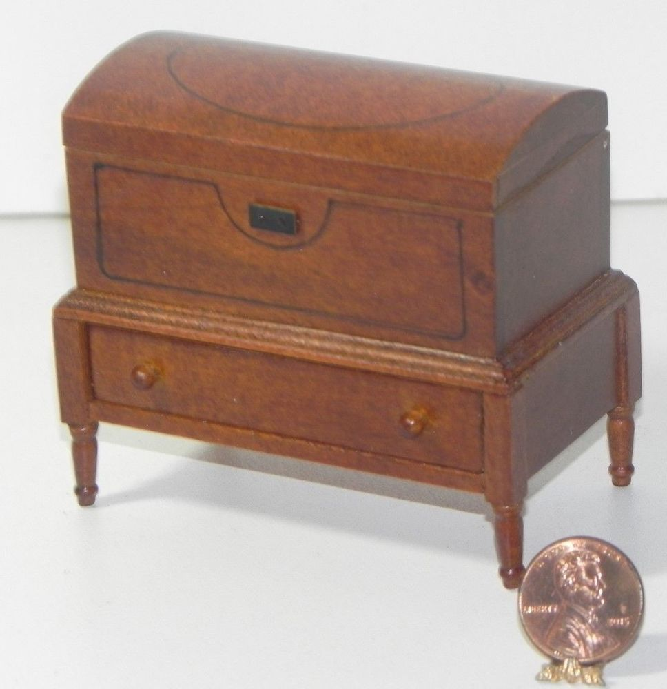 Dollhouse Miniature Walnut Night Stand by Town Square Miniatures