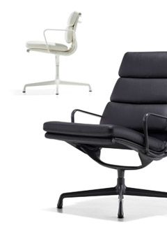 Eames Soft Pad Lounge Chair Herman Miller Padded Lounge