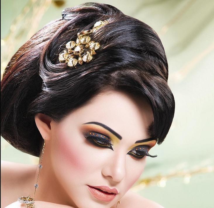 Pin By Dilraj Singh On Making Up Bridal Hair And Makeup High Fashion Hair Model Hair