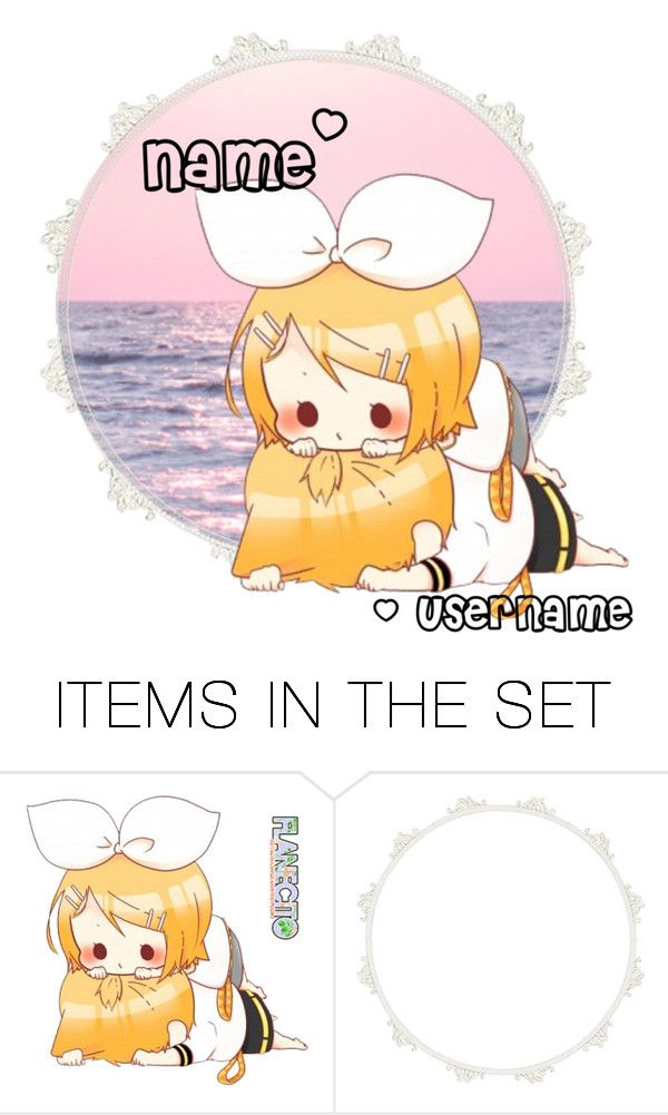 """""""❀ Open rin & len Icon ❀"""" by yellowpika-san ❤ liked on Polyvore featuring art"""