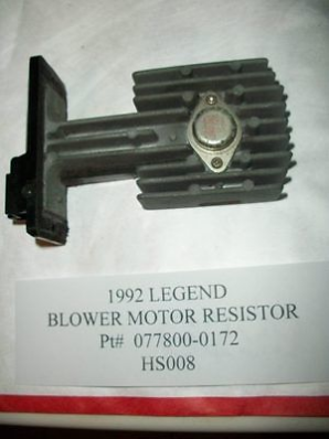 Nice ACURA LEGEND BLOWER MOTOR SPEED TRANSISTOR RESISTOR HEAT - Acura legend blower motor