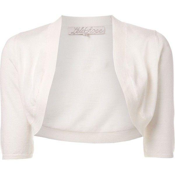 Lela Rose cropped bolero cardigan (1.380 BRL) ❤ liked on Polyvore ...