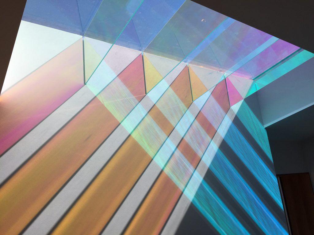 Best Levitt Architects Dichroic Glass Skylight Skylight 400 x 300