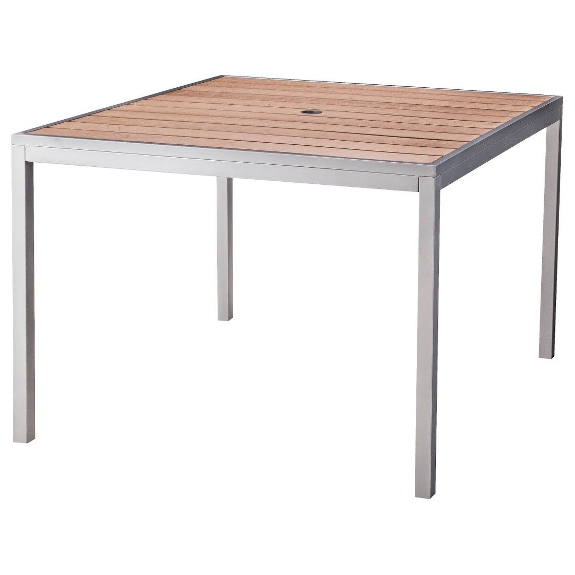 Threshold Bryant Faux Wood Square Patio Dining Table Outdoor - Square wood outdoor dining table