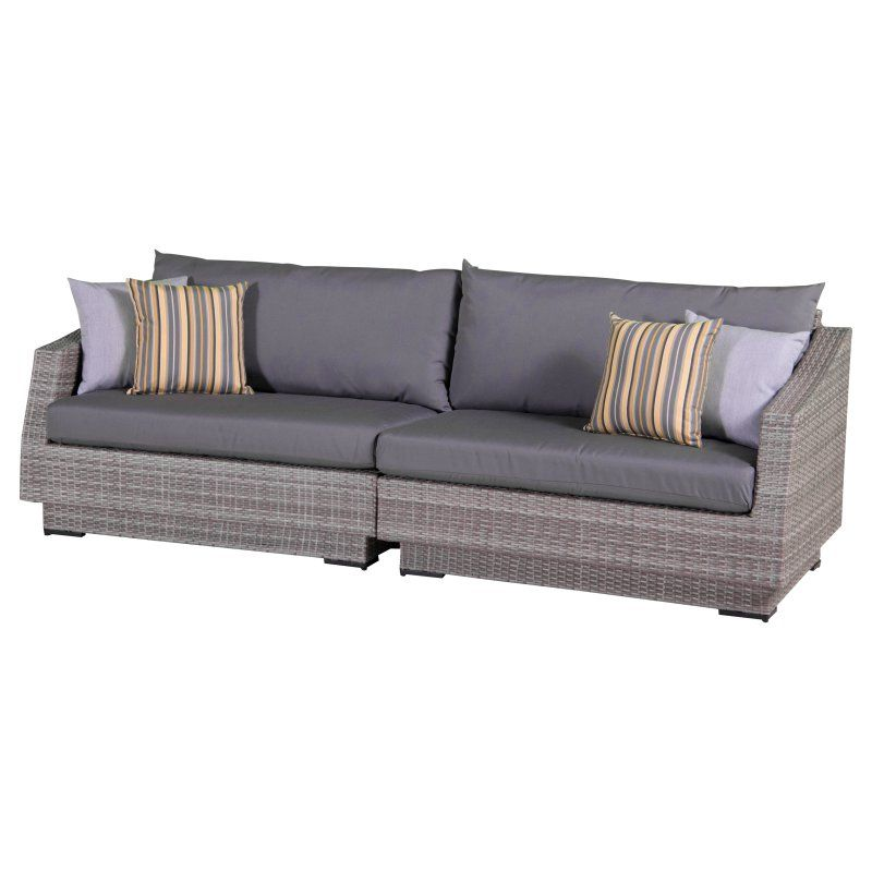 Outdoor RST Brands Cannes 2 Piece Sofa Charcoal Grey - OP-PESOF-CNS-CHR-K
