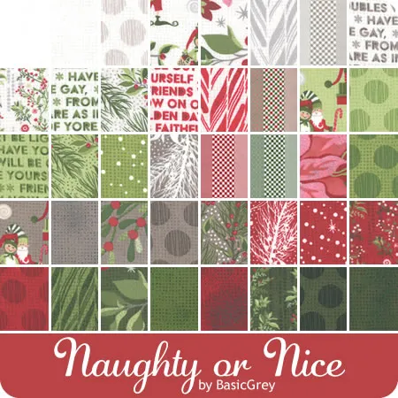 Moda Christmas Fabric 2020 Naughty or Nice by Basicgray for Moda Fabric   June 2020 in 2020