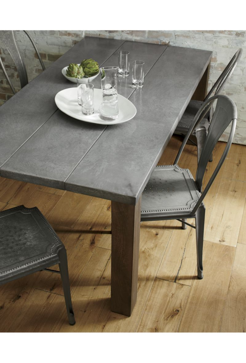 Galvin 48 Metal Top Dining Table Metal Dining Room Concrete