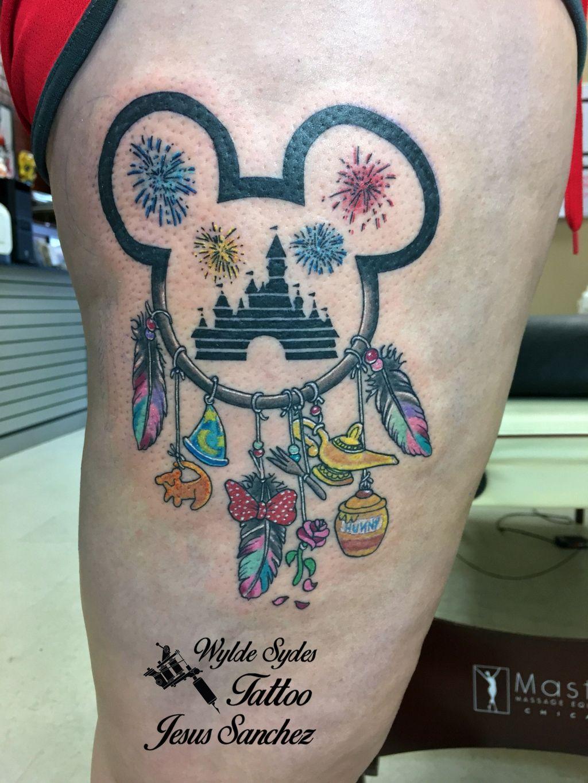Disney Dream Catcher Tattoo : disney, dream, catcher, tattoo, Nikki, Sankadota, Tattoo's!!, Disney, Tattoos,, Sleeve, Dream, Catcher, Tattoo