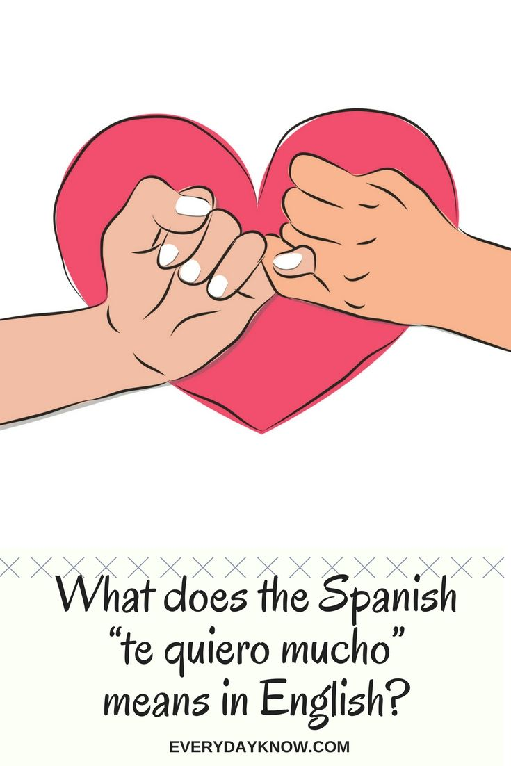 What does te quiero mean in english