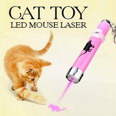 Toy Play gato de estimação LED luz laser pointer com brilhante animação rato