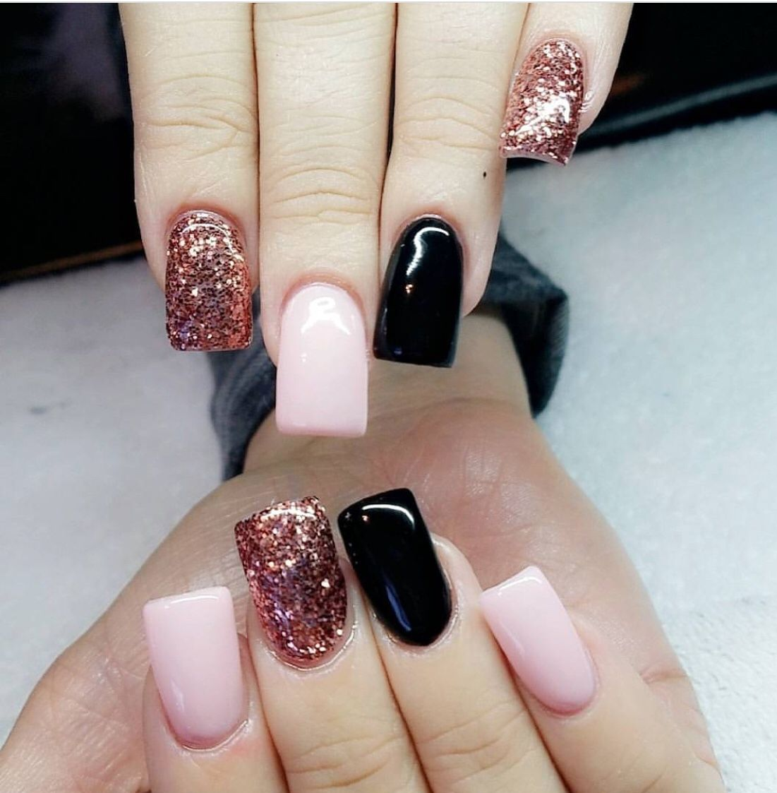 Black Pink To Rose Gold By Sherry Hawks Slt Pretty Nails Trendy Nails Pink Nails