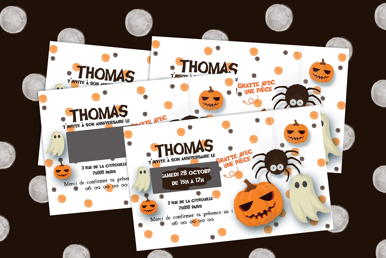 Cartons D Anniversaire Halloween Personnalises A Gratter Anniversaire Halloween Carte Invitation Anniversaire Invitation Anniversaire