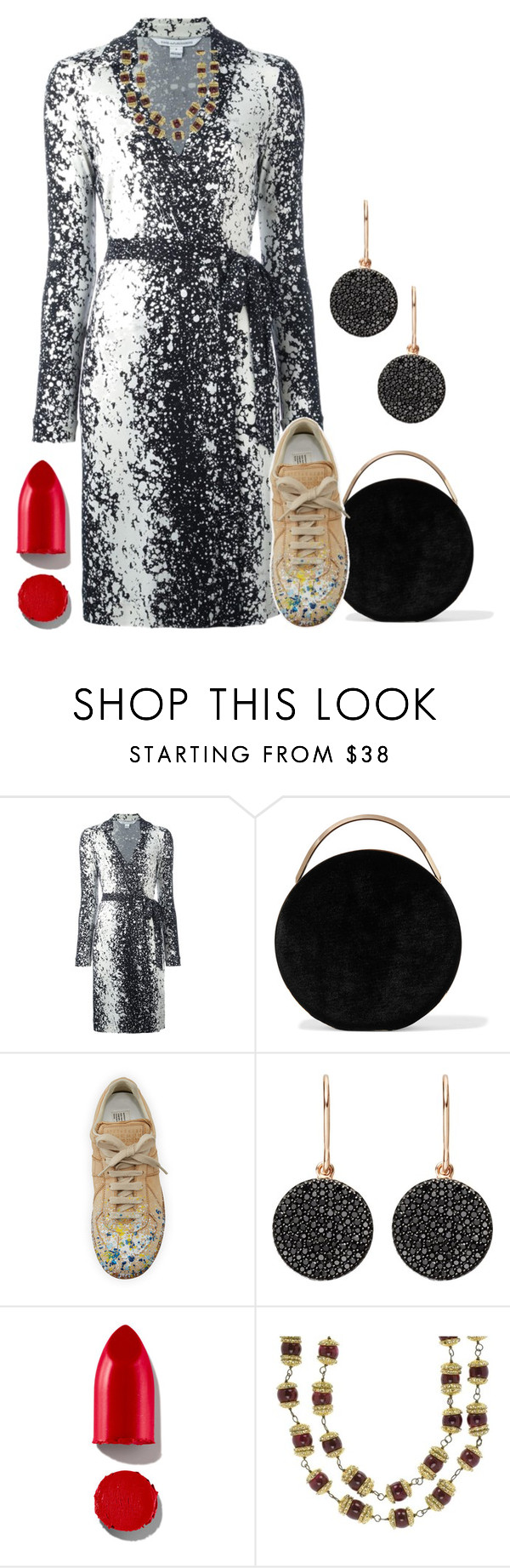 """""""So classy, so simple - so unquie"""" by no-where-girl ❤ liked on Polyvore featuring Diane Von Furstenberg, Eddie Borgo, Maison Margiela, Astley Clarke, Rodin and Chanel"""