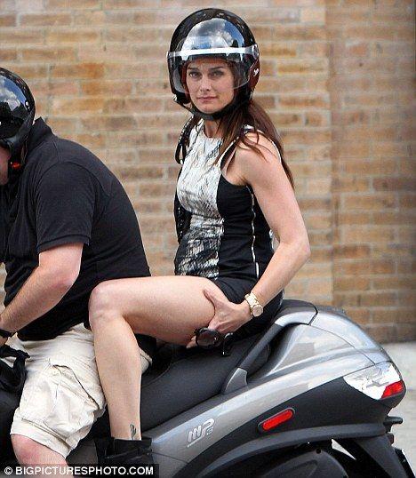 Mini-dresses And Motorbikes Don't Mix: Brooke Shields