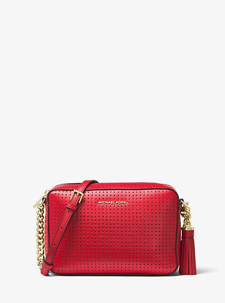 97beb68543ee Michael Kors Ginny Perforated Leather Crossbody | Products