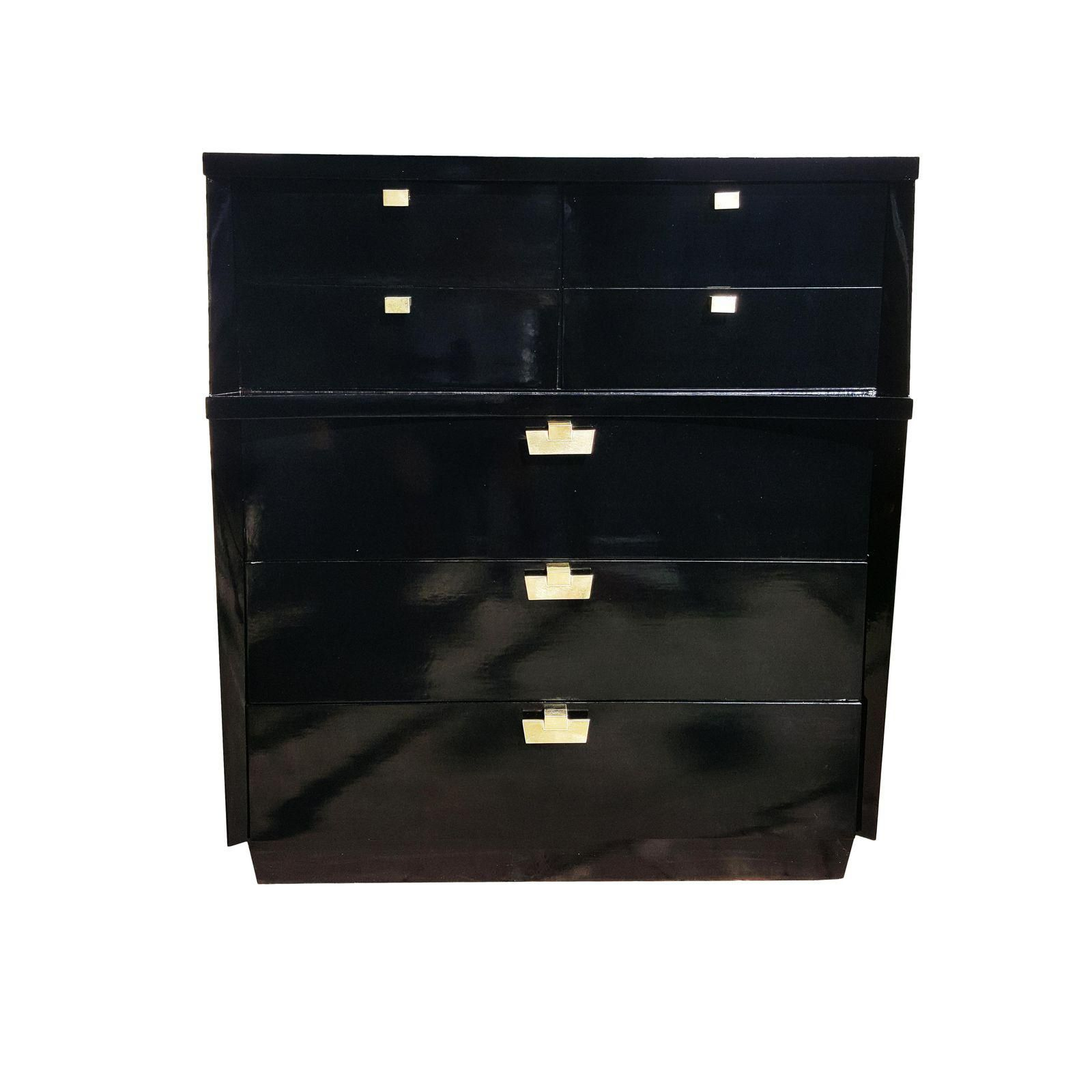 Image Of 1950 S Mid Century Modern Black Lacquer Dresser