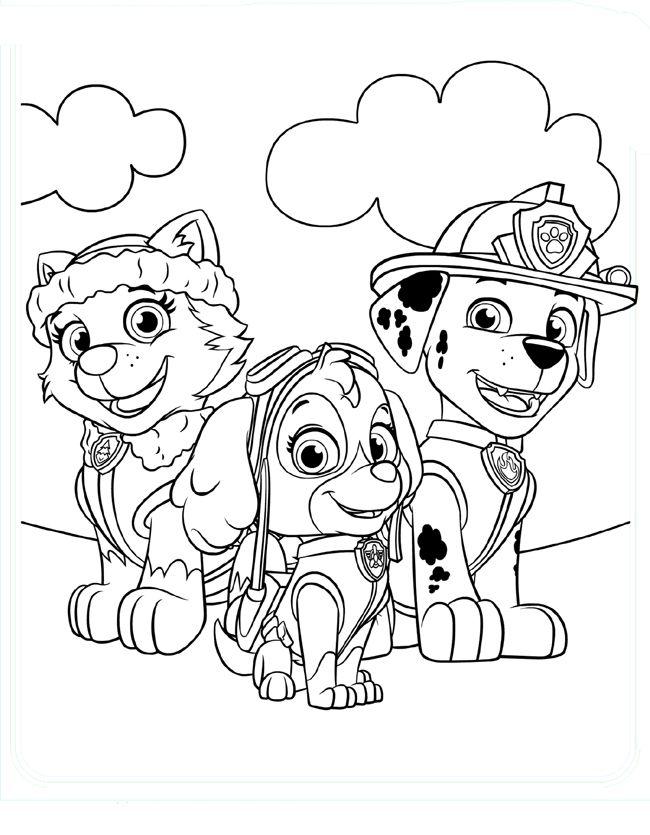 ausmalbilder paw patrol  ausmalbilder für kinder
