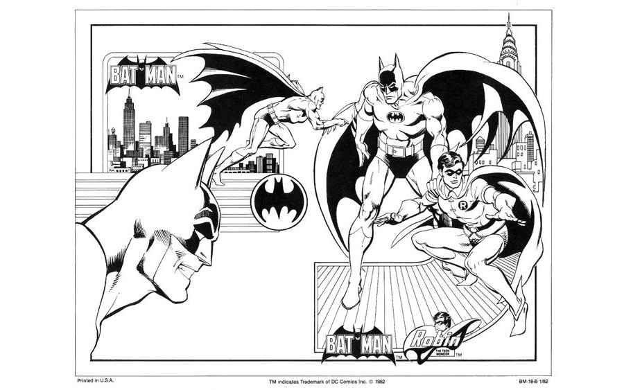 Dibujos de DC comics para colorear en una guía de 1982 | DC Comics ...