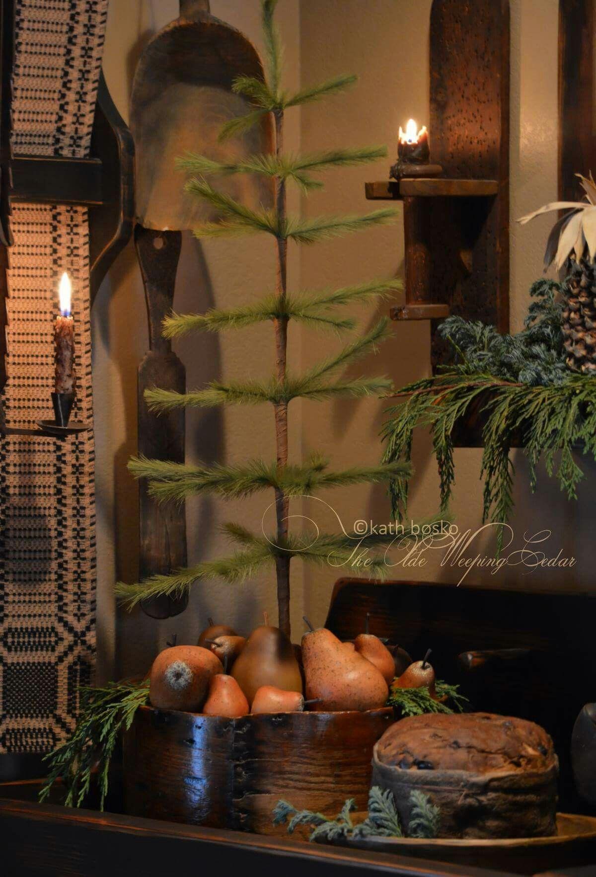 The Olde Weeping Cedar Rustic kitchen cupboard